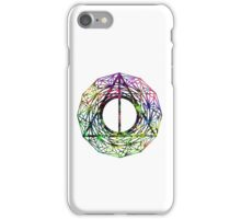 The coloured side of the deathly hallows iPhone Case/Skin