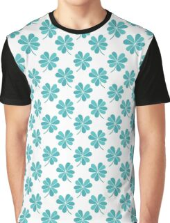 four leaf clover doodle pattern Graphic T-Shirt