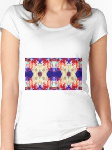 Facing The Unknown Abstract Healing Artwork  Women's Fitted Scoop T-Shirt