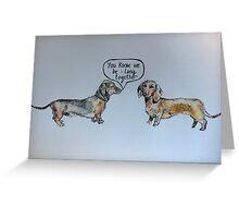 Sausage dog romance Greeting Card