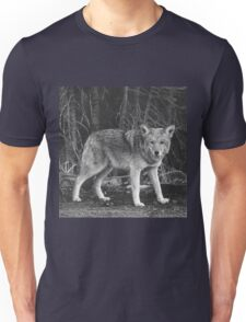 Powerful Wolf in Black and White Unisex T-Shirt