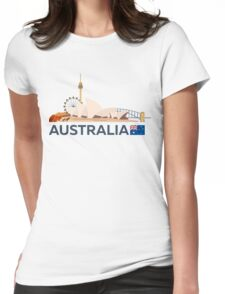 Travel to Australia, Sydney skyline Womens Fitted T-Shirt