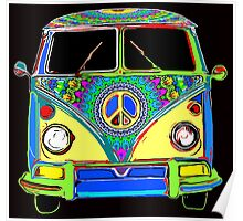 Peace Bus - Psychedelic Poster
