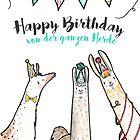 Lamaglückwünsche: Happy Birthday - von der ganzen Herde!  by simone-rose