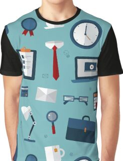 Office Seamless Pattern with Office Elements Graphic T-Shirt