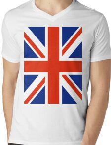 British UK Union Jack Flag Mens V-Neck T-Shirt