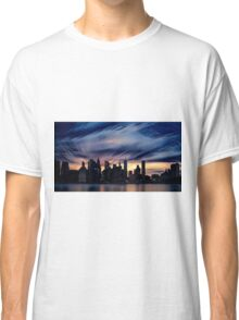 Romantic City Scape on the River Classic T-Shirt