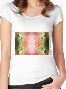 Welcoming New Life Abstract Healing Artwork  Women's Fitted Scoop T-Shirt
