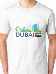 Travel to UAE, Dubai skyline Unisex T-Shirt