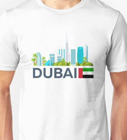 Travel to UAE, Dubai skyline Unisex T-Shirt