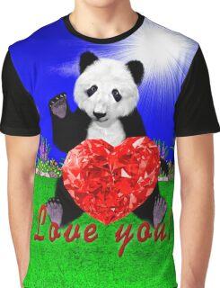 Panda loves you Graphic T-Shirt