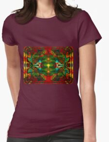 Nuclear Emotions Abstract Symbol Artwork  Womens Fitted T-Shirt