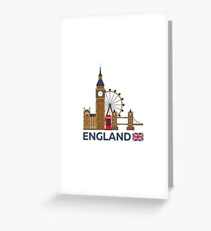 Travel to England, London skyline. Big Ban Greeting Card