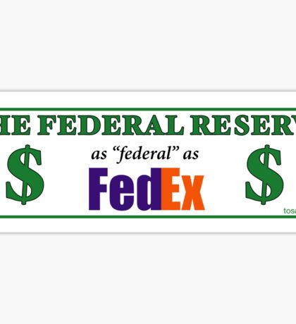 Federal Reserve Federal Express Sticker
