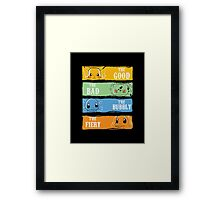 The Good,The Bad,The Bubbly,The Fiery Framed Print