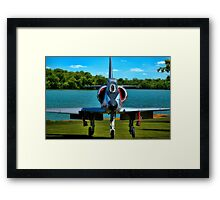 Marines A4L Skyhawk at the Golf Course Framed Print