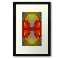 Circles Making Love Abstract Circular Artwork  Framed Print