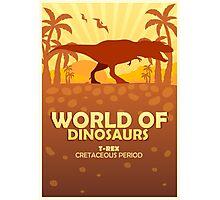 World of dinosaurs. Prehistoric world. T-rex Photographic Print