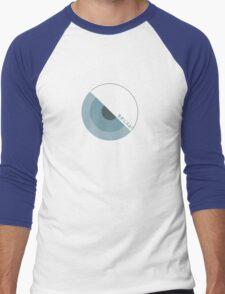 """""""modernism!"""" Blue Men's Baseball ¾ T-Shirt"""