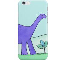 Purple Diplodocus Dinosaur iPhone Case/Skin