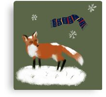 Frederick the Fox in the Snow Canvas Print
