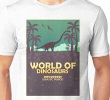 World of dinosaurs. Prehistoric world. Diplodocus Unisex T-Shirt
