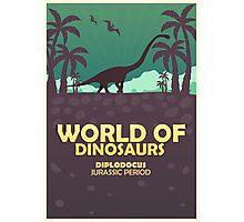 World of dinosaurs. Prehistoric world. Diplodocus Photographic Print