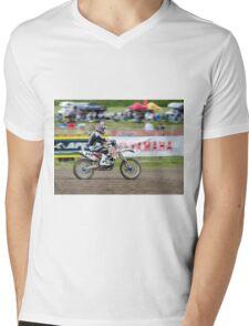 Motorcross Rider Mens V-Neck T-Shirt