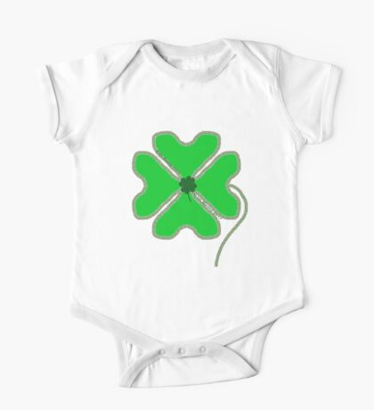 St. Patrick's Day Lucky Clover One Piece - Short Sleeve