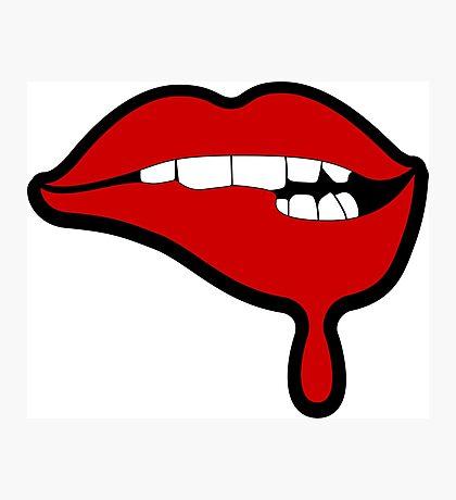 Lustful Lips Photographic Print