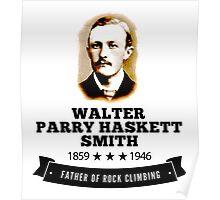 Rock Climbing Walter Smith Father Rock Climbing Poster