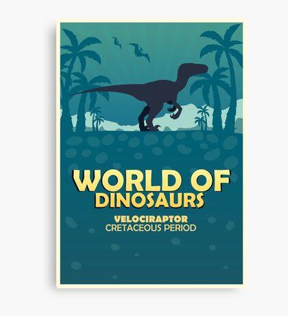 World of dinosaurs. Prehistoric world. Velociraptor Canvas Print