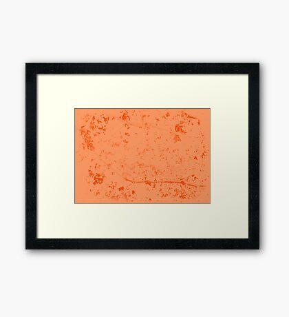 Whispers of nature - Orange Leaves Framed Print