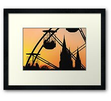 Ferris Wheel at Sunset Framed Print