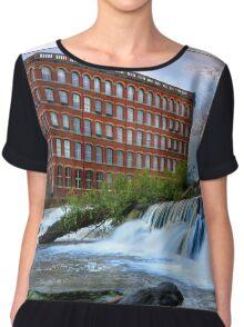 The Anchor Mill Paisley and The Hamill Waterfall Chiffon Top