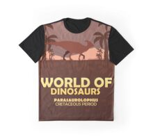 World of dinosaurs. Prehistoric world. Parasaurolophus Graphic T-Shirt