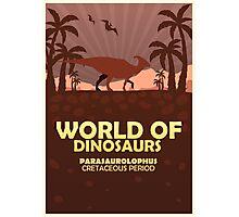 World of dinosaurs. Prehistoric world. Parasaurolophus Photographic Print