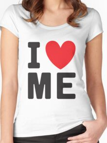 I Heart Love Me - Funny Anti Valentines Day  Women's Fitted Scoop T-Shirt