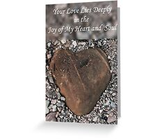 Love Lies Deeply Greeting Card
