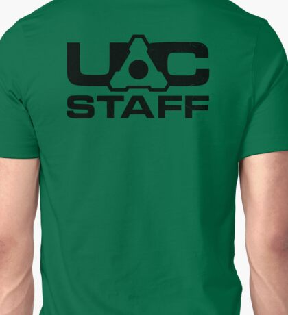 DOOM 4 UAC staff - black Unisex T-Shirt