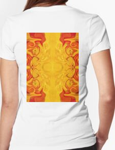 Energy Bodies Abstract Healing Artwork  Womens Fitted T-Shirt