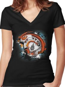 Born to Rebel Women's Fitted V-Neck T-Shirt