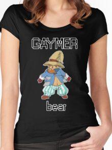 Gaymer Bear  Women's Fitted Scoop T-Shirt