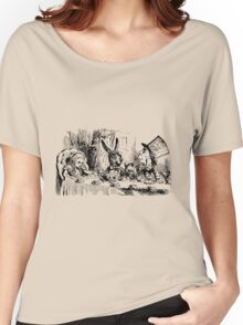 The Tea Party Alice in Wonderland By Lewis Carrol Women's Relaxed Fit T-Shirt