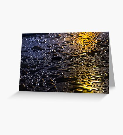 Rain Drops in Color Greeting Card