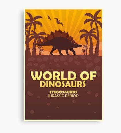 World of dinosaurs. Prehistoric world. Stegosaurus Canvas Print