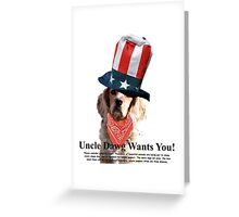 Uncle Dawg Wants You! Greeting Card