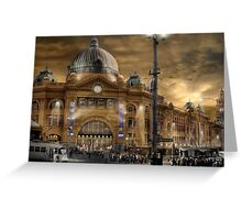 Flinders St Station  Greeting Card