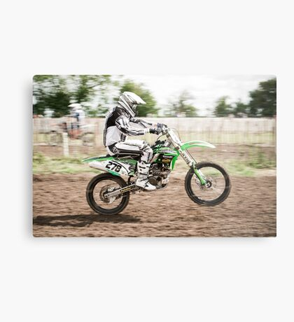 Motorcross Rider Metal Print