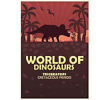 Poster World of dinosaurs. Prehistoric world. Triceratops Photographic Print